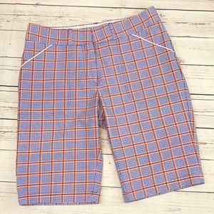 Peter Millar Wicking Plaid golf shorts size 4